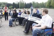 Инвалиды-колясочники протестуют против дискриминации