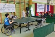 Турнир по настольному теннису среди инвалидов-колясочников в Пулавах (Польша)