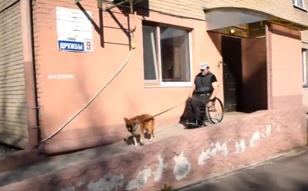 Выгуливаем собаку. Инвалид-колясочник делится опытом.