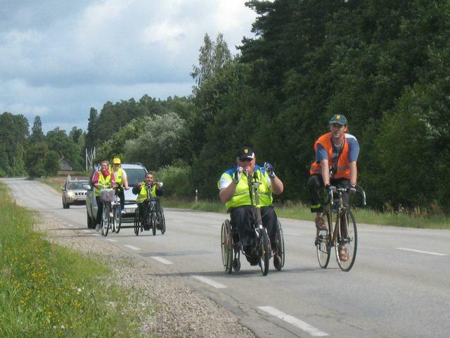 Литва, велопробег по литве,хэндбайк, велоприставка