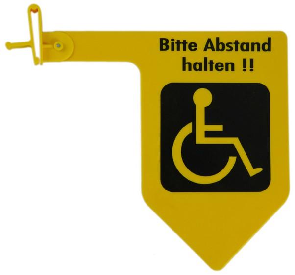 знак боковой дистанции для автомобиля колясочника