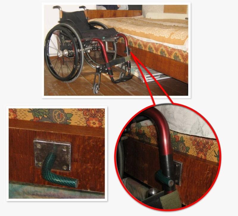 Приспособление для фиксации коляски